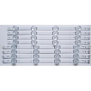 LG INNOTEK DRT 3.0 42, 42LB SERİSİ 42LB652V , 42LB620V, 42LF580N, 42LB582V, 42LB580N LED BAR TAKIMI 8ADET ORIGINAL LENS , (9113)