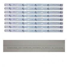 Samsung, Led Bar, Led Çubuk, SAMSUNG_2013ARC40_3228N1_5_REV1.1_140509, ZCC606, BMS SS  (ORJİNAL SIFIR LED BAR) 8 ŞERİT (9110)