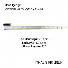 42 INCH V12 EDGE 6920L-001C REV1.1 1, LC420EUN, SEM1, 420B9W37BB4XX, 7P1C, 53.3 CM, 60 LEDLİ, SIFIR, İTHAL ÜRÜN