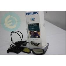 Philips Aktif 3D gözlükler PTA516 3D Max TV'ler için SIFIR